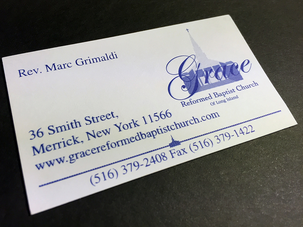 Grace Reformed Baptist Church card